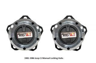 Rugged Ridge Heavy Duty Locking Hubs 81 86 Jeep CJ5 CJ7 CJ8 More