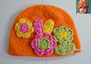 Cute Baby Children Infant Girls Kids Toddler Crochet Handmade Beanie Hat Cap