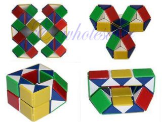 Magic Toy Game 3D Snake Rubik Rubix Rubic Cube Puzzle DIY Various Shape