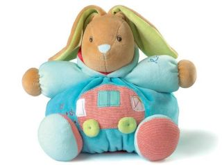 "Kaloo Bliss Chubby Rabbit Car Motif Soft Plush Baby Toy New Medium 10"" 25cm"