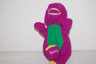"7"" Plush Barney Golden Bear Purple Dinosaurs Kids Size Stuffed Animal Lovey Toy"