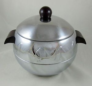 West Bend Penguin Vintage Hot Cold Server Ice Bucket Bakelite Chrome 1950's MCM