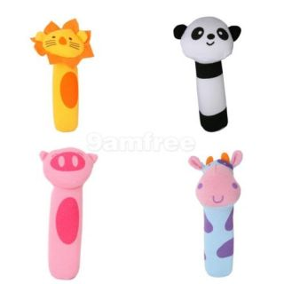 6 Vivid Wild Animals Figurines Plastic Toy Model Figure