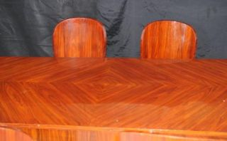 Art Deco Dining Set Rosewood Table and Chair Suite