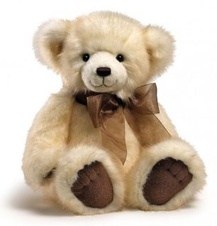 "CANNOLI Teddy Bear by Gund Soft Plush Toy Measures 16"" 40cm Cream"