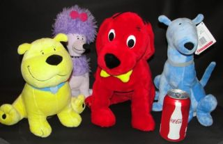 Kohl's Cares Clifford Big Red Dog T Bone Cleo Mac Lot 4 Plush Stuffed Animal Toy