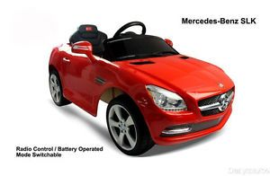 Licensed Mercedes Benz SLK 81200 Baby Kids Ride on Power Wheels Toy Car Red