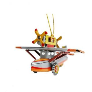 Tin Toy Water Plane Ornament Retro Style Christmas Tree Decoration Vintage 3 5""