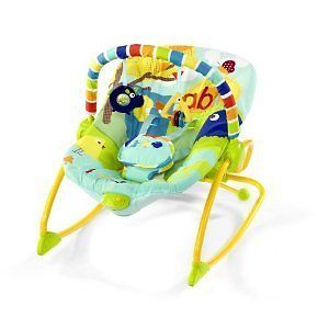 Bright Starts Rock in The Park Bouncer Rocker Chair New