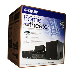 New Yamaha YHT 599U 5 1 Channel Home Theater Receiver Speaker System YHT 599UBL