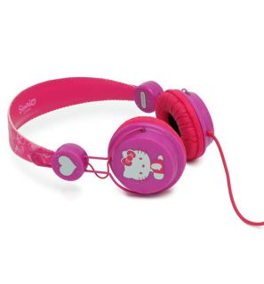 Official Pink Hello Kitty Glitter Headphones from Coloud