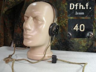 WWII 1940 Original German Wehrmacht Radio Headphones