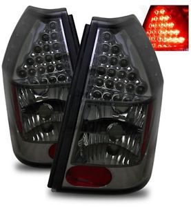05 07 Dodge Magnum Smoked Tinted SMD LED Tail Lights Housings Rear Brake Lamps