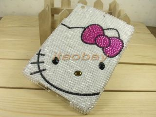 "Cover Case for iPad Mini 7 9"" Cute Cartoon White Bling Crystal Hello Kitty New"