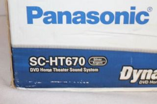 Panasonic SC HT670 DVD Home Theater Sound System Dyno Movie with Accessories