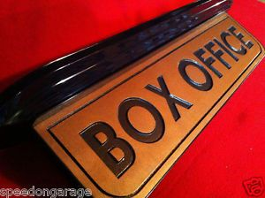 Vintage Style Art Deco Movie Theater Box Office Sign Home Theater Mancave