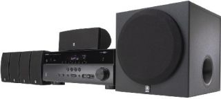 Yamaha YHT 597 5 1 Channel Home Theater System Audio Stereo Speakers 597BL New