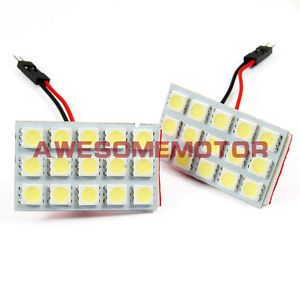 US 2X Hot Truck Door Indicator Interior White LED Dome Light Lamp Bulbs 15 SMD