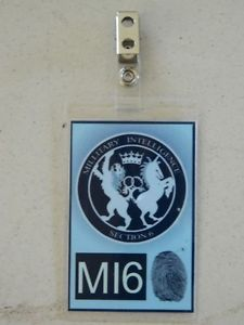 Halloween Costume Movie Prop ID Security Badges MI6 Badge