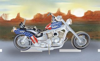 Harley Davidson Motorcycle Pre Colored 3D Puzzle Wood Craft Construction Kit