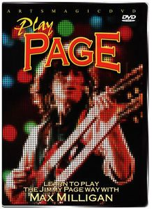 Artsmagic Play LED Zeppelin's Jimmy Page Guitar Instructional DVD Max Milligan