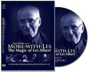 More with Les Albert Coin Card Mentalism Paddle Magic Trick Instructional DVD