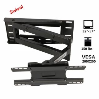 "Articulating Swivel Tilting 32 57"" 150 lbs LCD LED Monitor TV Wall Mount Bracket"