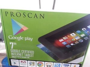 "Proscan 7"" Internet Tablet Black 4GB 4 1 Android Jelly Bean"