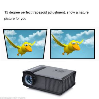 HD Home Theater Cinema 2800LM LED Projection Projector 800 600 HDMI TV AV VGA US