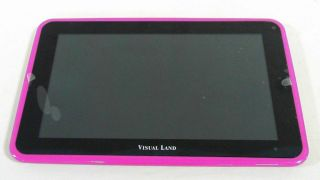 Visual Land Prestige 7L Internet Tablet Android 8GB WiFi Webcam Magenta 2JM7 1