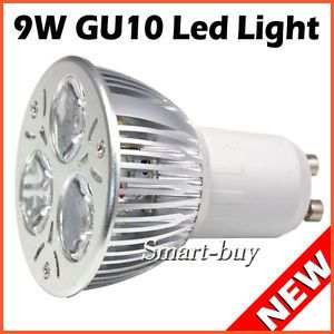New 9W GU10 LED Light Bulbs Lamp Cool White Saving Energy Freeshiping 100 Epista