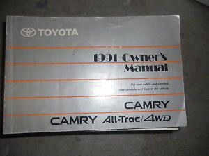 1991 Toyota Camry Factory Original Owners Manual