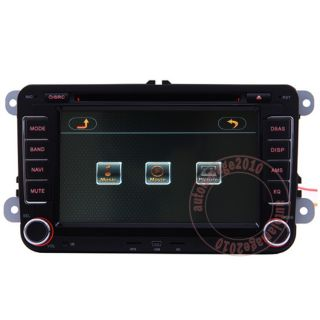 Car GPS Navigation Radio HD Touch Screen TV DVD Player for 08 11 VW Golf MK6 VI