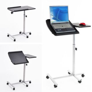Portable Laptop Desk Stand Height Adjustable Rolling Laptop Table Notebook Cart