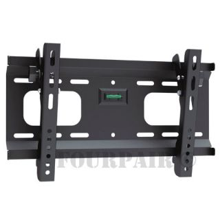 Low Profile Vesa Tilt TV Plasma LCD LED Wall Mount Bracket 23 24 26 27 30 32 37""