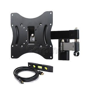 Swivel Tilt LCD LED Plasma TV Flat Panel Screen Wall Mount 22 23 24 27 32 37 Map