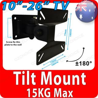 "10 14 18 20 21 22 24 26"" Tilt Swivel Wall Bracket Mount LCD LED Monitor TV"