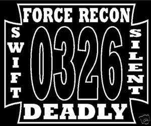 0326 Force Recon United States Marine Corps Decal