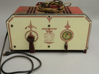 Vintage Art Deco Porcelain General Electric Tungar 6 Volt Battery Charger Radio