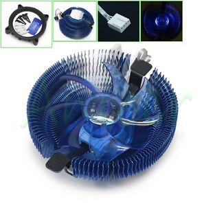 CPU Cooler Heatsink PWM LED Fan for Inter LGA775 1155 1156 AMD 754 939 AM2 AM3