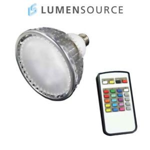Color Changing RGB LED Light Bulb PAR38 w Remote