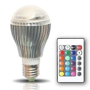 Remote Control Multi Color 9 w RGB Changing LED Light Bulb Mood Light