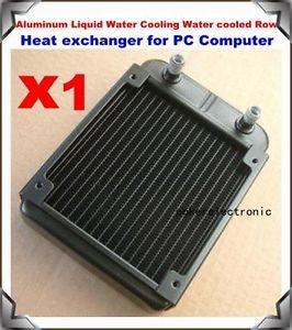 1x Aluminum Liquid Water Cooling Water Cooled Row Heat Exchanger for PC Computer