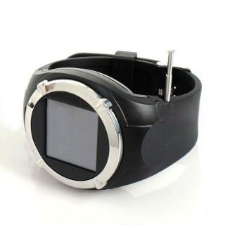 Touch Screen Hidden Camera Unlocked GSM Cell Phone Mobile Wrist Watch MP4 Black