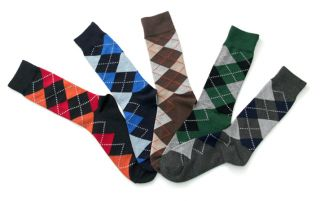 Men Lords Argyle Pattern Dress Socks Casual Socks Size 8 12