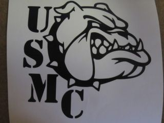 "United States Marine Corp Bulldog Decal USMC 5 5"" x 5"" Many Colors to Choose"