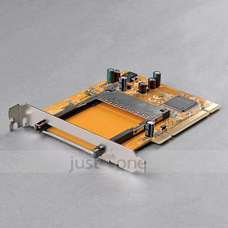 PCMCIA to PCI Card Adapter Converter Card Notebook Laptop to Desktop Computer PC