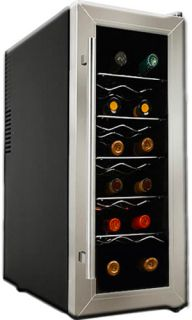 12 BTL Ultra Slim Wine Cooler Refrigerator Compact Thermoelectric Mini Fridge