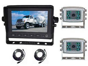 "5"" Two Camera Color TFT LCD Rear View Backup Safety CCD Camera System Car Truck"