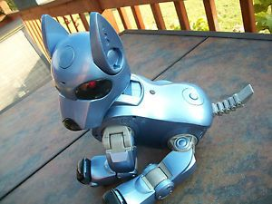 Blue I Cybie Programmable Robot Robotic Dog Silverlit Tiger w Adapter Battery